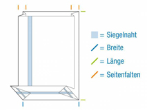 OPP-Blockbodenbeutel, hochtransparent - 50 µ extra stark