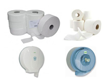 Toilettenpapier und Toilettenpapierspender