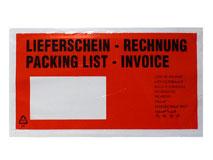 Begleitpapiertaschen DIN Lang – Lieferschein / Rechnung
