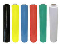 Handstretchfolie, schwarz - weiß - blau - grün - rot - gelb