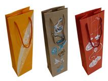 Papier-Tragetaschen für Wein- und Sektflaschen