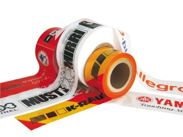 LDPE-Absperrband individuell 1-farbig bedruckt - 75mmx500m - 50 my