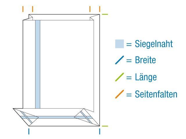 OPP-Blockbodenbeutel, hochtransparent 100+60x280 mm 40 µ