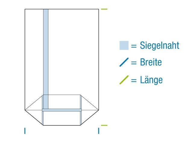 OPP-Kreuzbodenbeutel, hochtransparent 115x190 mm - 30 µ