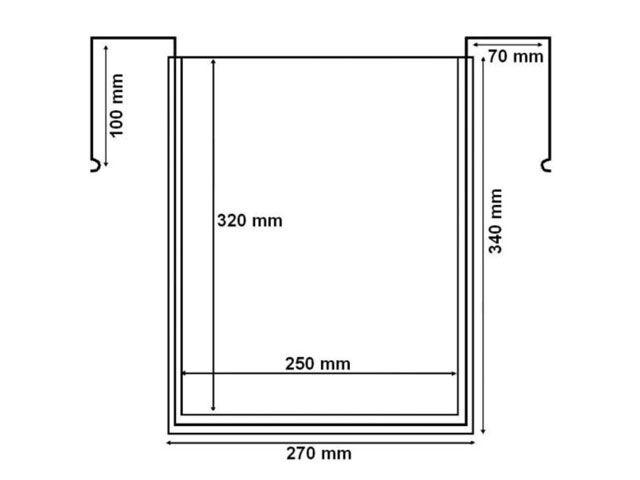 Drahtbügeltaschen - A4 - ohne Klappe - Hochformat - für Gitterboxen