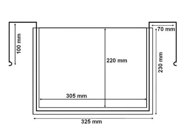 Drahtbügeltaschen - A4 - ohne Klappe - Querformat - für Gitterboxen