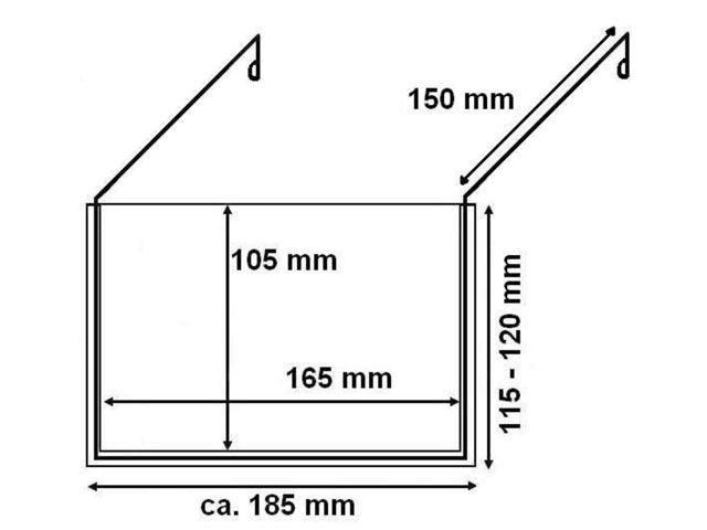 Drahtbügeltaschen - DIN A6 - ohne Klappe - für  Europaletten