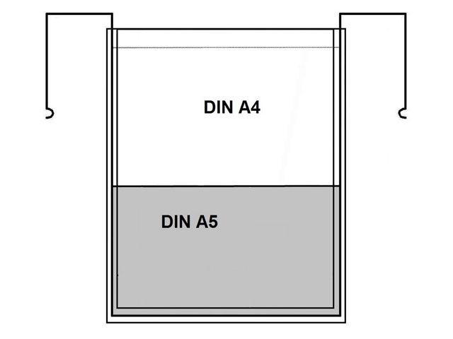 Drahtbügeltaschen - A4 + A5 - ohne Klappe - 1 Tasche mit 2 Formaten - für Gitterboxen