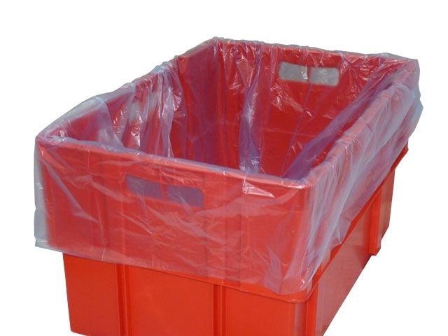 Einlegesäcke aus HDPE für E2 Kisten - 650/450x650mm - blau-transluzent