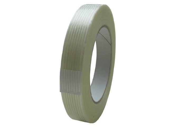 Filamentklebeband, transparent - 25mmx50m - Nr. 312 - in Längsrichtung verstärkt