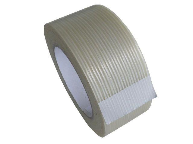 Filamentklebeband, transparent - 50mmx50m - Nr. 312 - in Längsrichtung verstärkt
