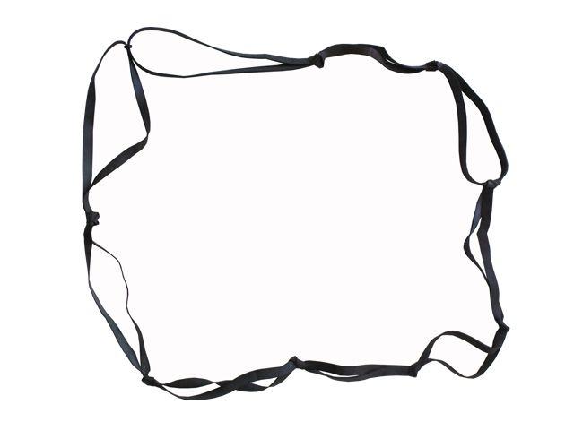 Gummischlaufenbänder (Paletten-Gummispannbänder), schwarz - 2400x16x2mm