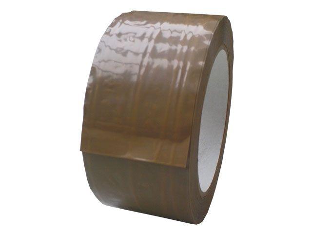 PP Paketband, braun - fadenverstärkt - 50mmx66m - 50µ - Hotmeltklebstoff - Nr. 871