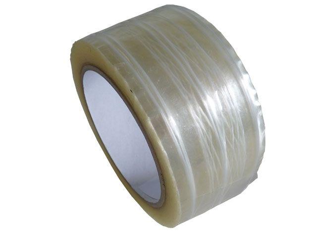 PP Paketband, transparent - fadenverstärkt - 50mmx66m - 50µ - Hotmeltklebstoff - Nr. 871