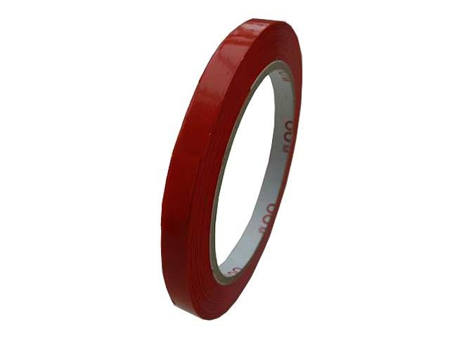 PVC Paketband, rot - 9mmx66m - 53µ - Naturkautschukklebstoff - Nr. 866