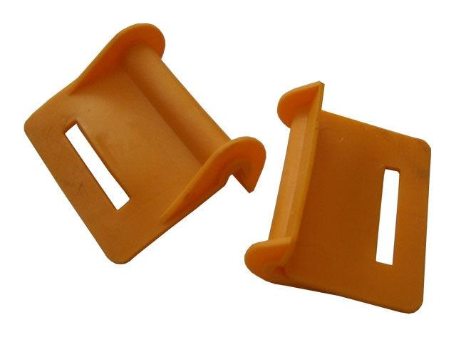 Kantenschutzecken aus Kunststoff zur Fasssicherung 70x50x20 mm - max. Bandbreite 50 mm - mit Schlitz