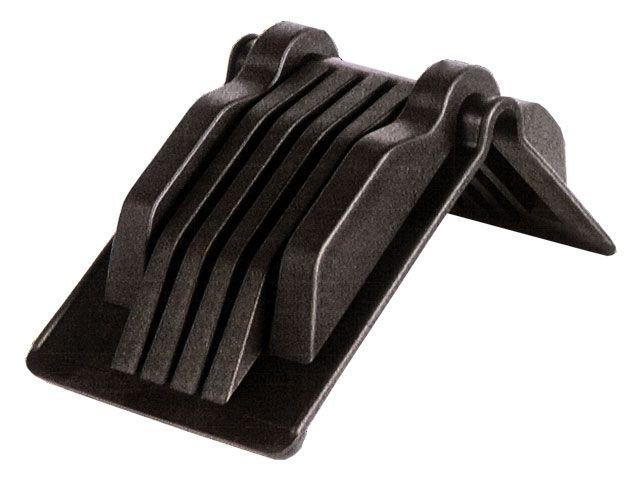 Kantenschutzecken aus Kunststoff, schwarz - 150x180x130 mm - max. Bandbreite 70 mm