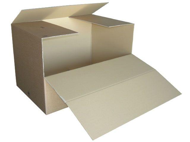 Containerboxen aus Wellpappe, braun - 1180x780x765 mm aus 2-welliger Wellpappe