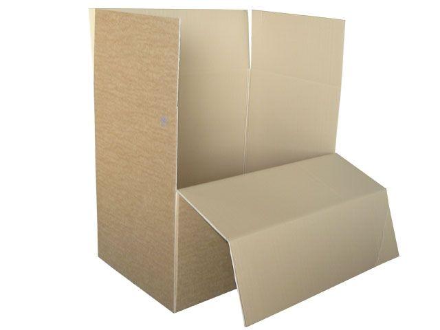 Containerboxen aus Wellpappe, braun - 1180x780x1065 mm aus 2-welliger Wellpappe