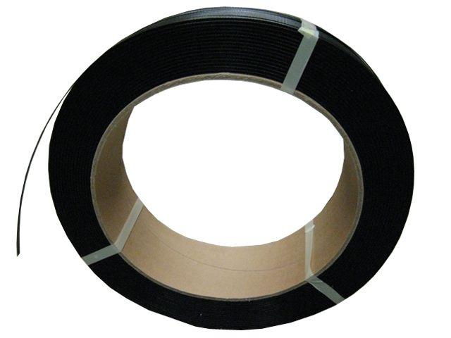 PP-Umreifungsband, schwarz - 16,0x0,50mmx2000m - Reißkraft 200 Kg - Kern 406 mm
