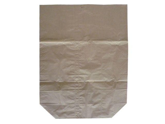 Papier-Abfallsäcke, braun - 2-lagig 2x70g/m² - ohne Druck 120 L - 700x950+220 mm