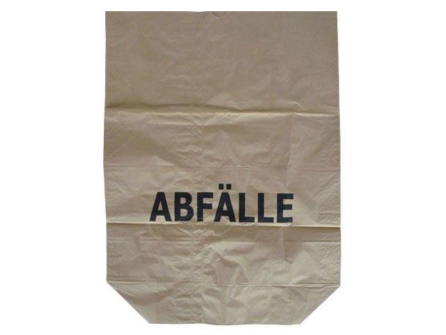 Papier-Abfallsäcke, braun - 2-lagig 2x70g/m² - Druck Abfälle 120 L - 700x950+220 mm