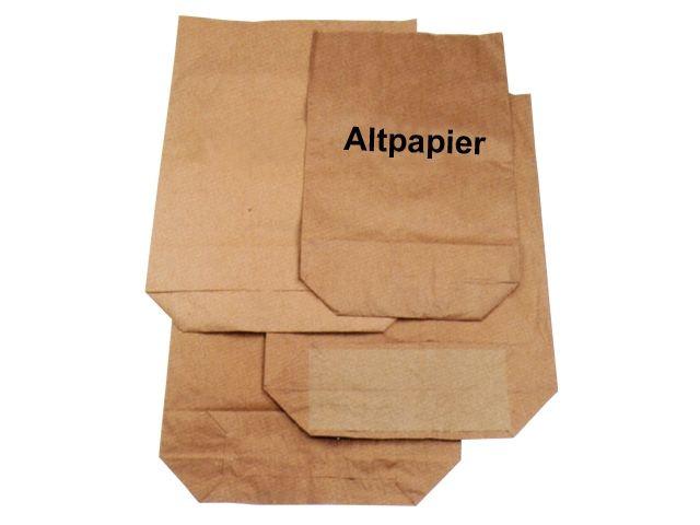 Papier-Abfallsäcke 2-lagig 2x70g/m² - Druck Altpapier 120 L - 700x950+220 mm
