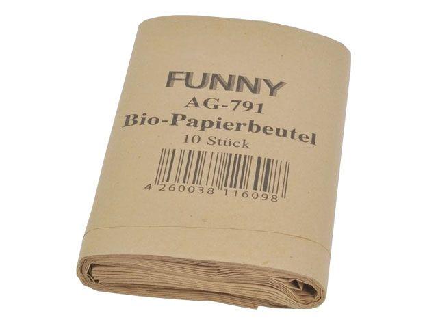 Bio-Papierbeutel, braun - 200 + 170 x 360 mm