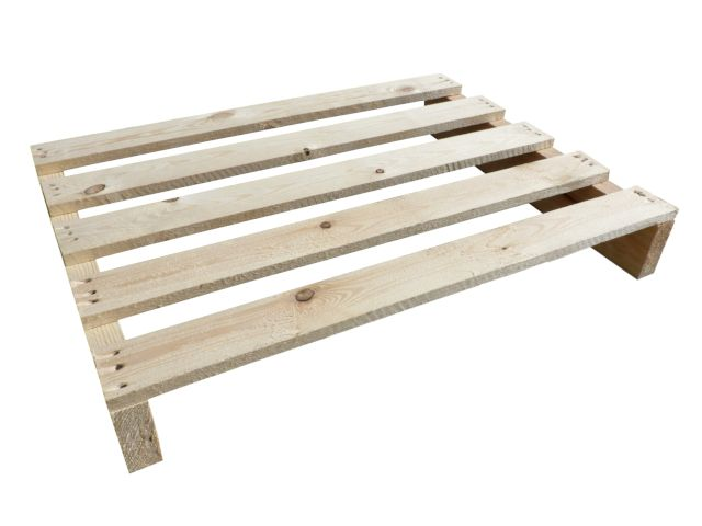 Holzeinwegpaletten - 600x800 mm - IPPC - behandelt - 5 Deckbretter