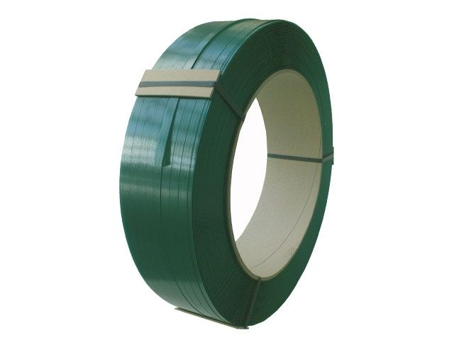 PET-Umreifungsband, grün - geprägte Oberfläche, 15,5x0,90mmx1.500m - Reißkraft: 580 KG - Kern: 406 mm