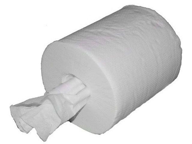 Papierhandtücher auf Rolle (Midirollen), weisslich - 1-lagig
