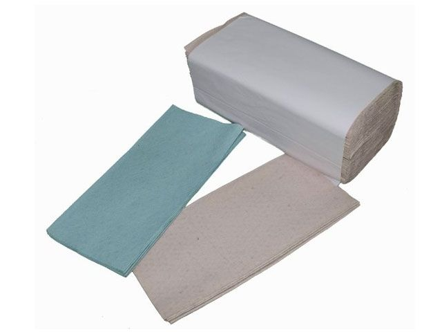 Papierhandtücher, hellgrau - 1-lagig