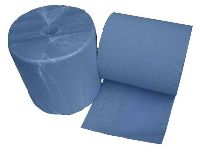 Putzpapierrollen (Industriepapierrollen), blau - 3-lagig