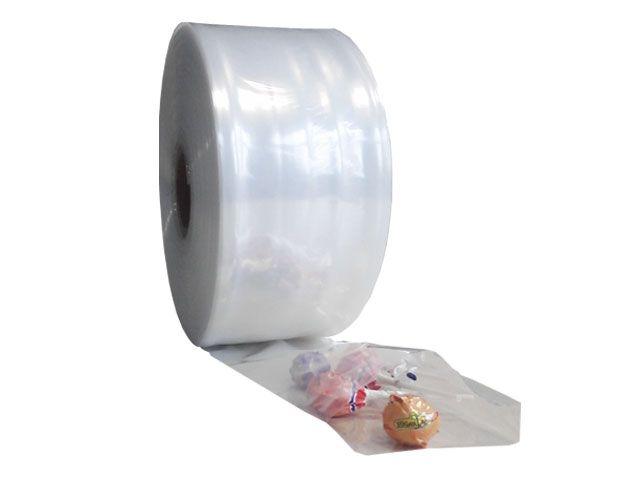 LDPE-Schlauchfolie, transparent 100mmx500m - 50 µ - Kern 76 mm