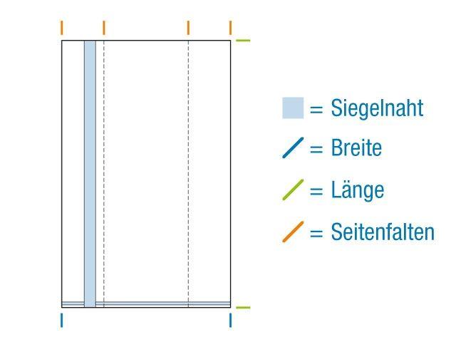 OPP-Seitenfaltenbeutel, hochtransparent 100+50x300 mm