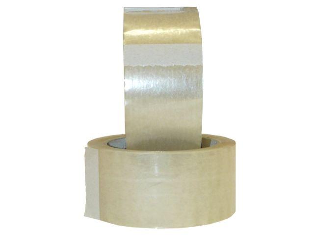 PP Paketband, transparent - leise abrollend - 50mmx66m - 48µ - Acrylatklebstoff - Nr. 851