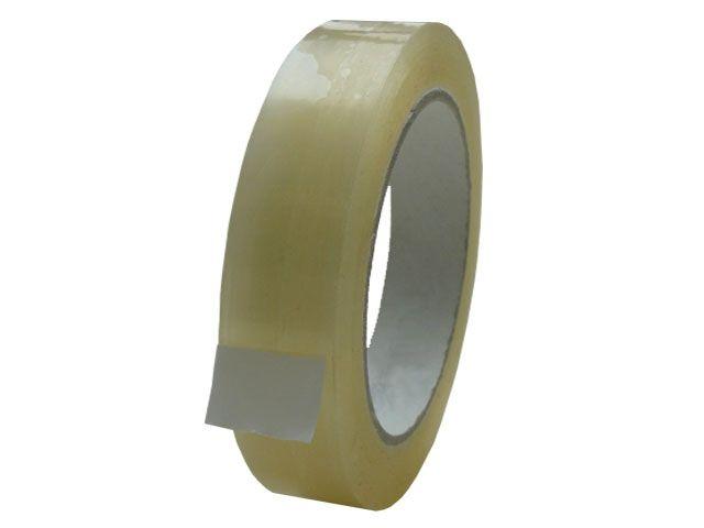 PVC Paketband, transparent - 25mmx66m - 53µ - Naturkautschukklebstoff - Nr. 866