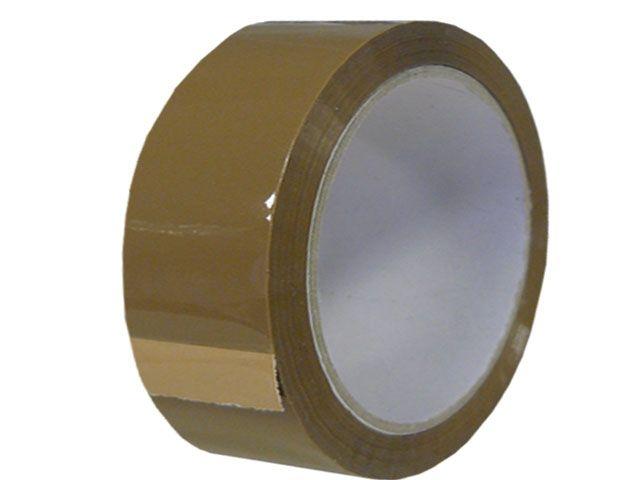 PVC Paketband, braun - 38mmx66m - 53µ - Naturkautschukklebstoff - Nr. 866