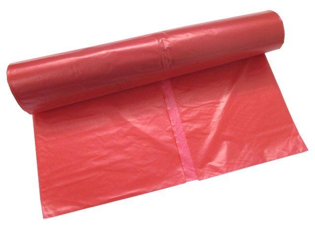LDPE-Müllbeutel, rot - 120 L - 700x1100 mm, Typ 60 - 30my